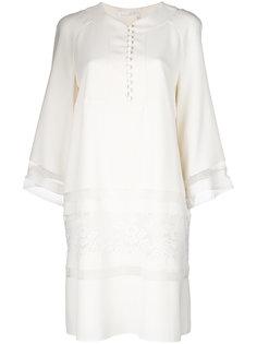 платье мини с кружевной вставкой  Chloé