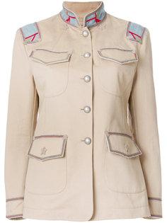 однобортный пиджак в стиле милитари Ermanno Scervino