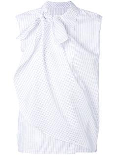 многослойная рубашка в полоску без рукавов  Mm6 Maison Margiela
