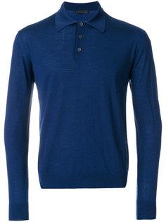 рубашка-поло с длинными рукавами Prada