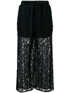 брюки с кружевным слоем Mm6 Maison Margiela