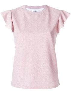 футболка с рюшами на рукавах Dondup