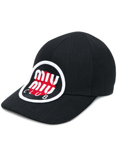 кепка с заплаткой с логотипом  Miu Miu