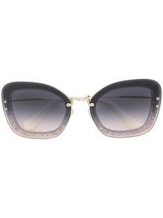 массивные солнцезащитные очки с блестками Miu Miu Eyewear