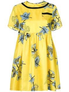расклешенное платье с цветочным принтом  Vivetta