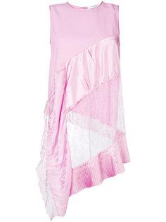 асимметричная блузка с кружевной отделкой  Givenchy