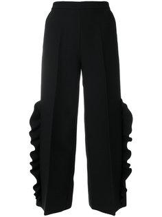 шиирокие брюки с рюшами MSGM