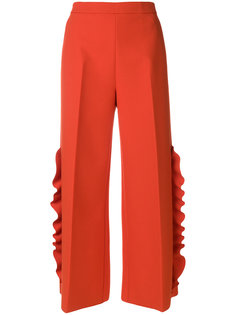 широкие брюки  с рюшами MSGM