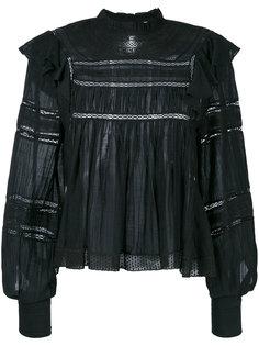 блузка с вышивкой и оборками Isabel Marant Étoile