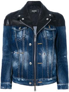 джинсовая куртка на молнии  Dsquared2
