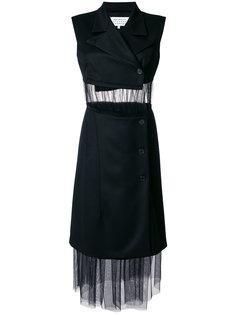 платье-блейзер без рукавов со вставкой из тюли  Maison Margiela