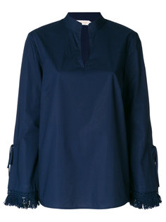 рубашка с воротником-мандарин Tory Burch