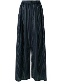 широкие брюки в полоску  Mm6 Maison Margiela