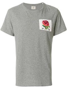 футболка с вышивкой розы Kent & Curwen