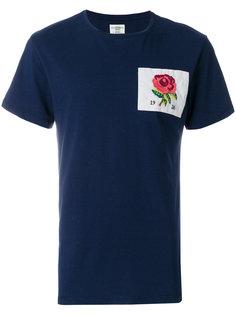 футболка с заплаткой с принтом розы Kent & Curwen