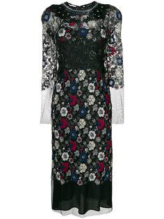 платье с цветочной вышивкой Antonio Marras