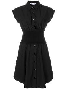 расклешенное платье-рубашка  T By Alexander Wang