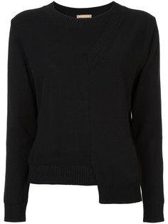 асимметричный трикотажный свитер  Nehera