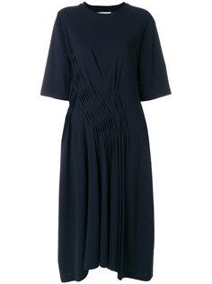 платье с плиссированной деталью Jil Sander
