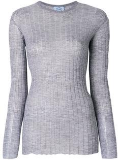 свитер в рубчик с круглым вырезом  Prada