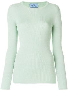 свитер металлик в рубчик  Prada