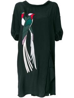 платье с аппликацией в виде птицы  Nº21