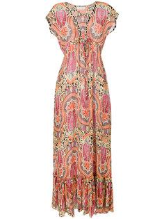 платье с принтом пейсли и глубоким V-образным вырезом  Etro
