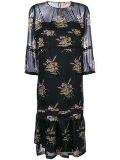 прозрачное платье с цветочным принтом Nº21