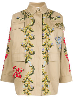 куртка с цветочной вышивкой  Red Valentino