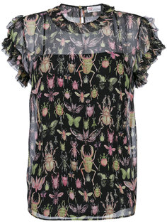 блузка с принтом бабочек Red Valentino