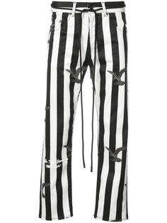 брюки в полоску Off-White