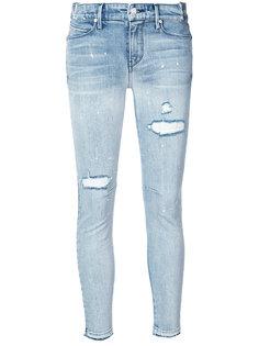 джинсы скинни с рваными деталями Rta