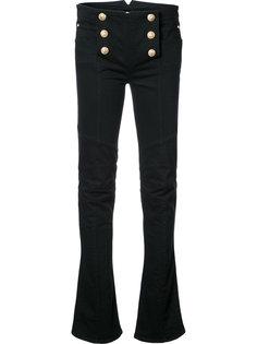 слегка расклешенные джинсы с высокой талией Balmain
