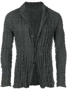 плиссированный пиджак в полоску Issey Miyake