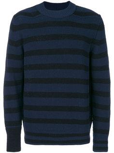 полосатый свитер Sacai