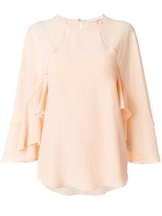 блузка с оборками на рукавах  Chloé