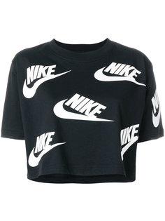 укороченная футболка с принтом логотипа Nike