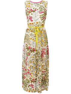 длинное платье с цветочным принтом  Red Valentino