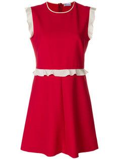 мини-платье с рюшами Red Valentino