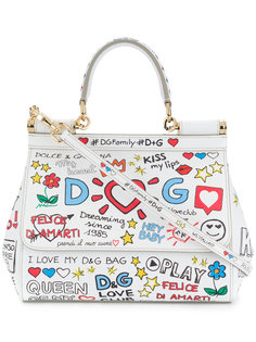 маленькая сумка Sicily с надписями  Dolce & Gabbana