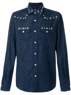 рубашка в ковбойском стиле с заклепками Versus