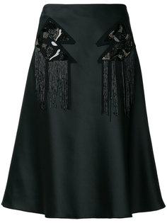 юбка А-образного силуэта с украшением из пайеток Versus