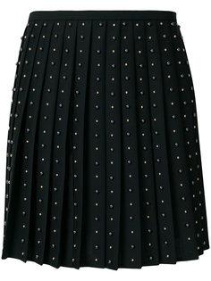 плиссированная юбка с заклепками  Versace