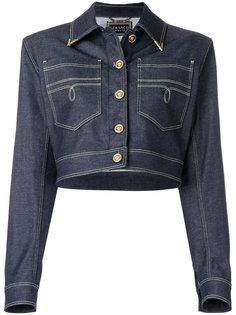 структурированная джинсовая куртка Versace