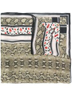 шарф со змеиным принтом Givenchy
