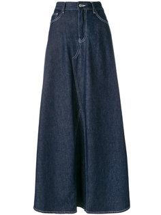 джинсовая юбка макси  Mm6 Maison Margiela