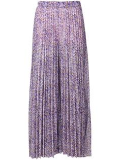 плиссированная юбка макси с цветочным принтом  Blumarine