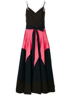 """расклешенное платье дизайна """"колор-блок"""" Delpozo"""