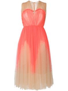 расклешенное плиссированное платье Delpozo