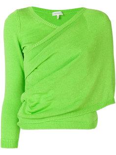 асимметричный свитер  с запахом Delpozo